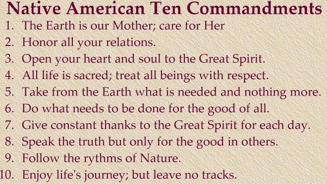 native-american-commandments