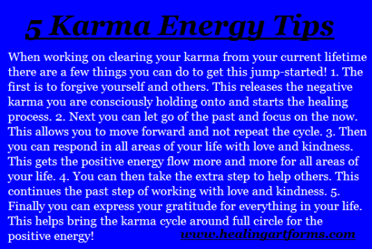 karma energy tip