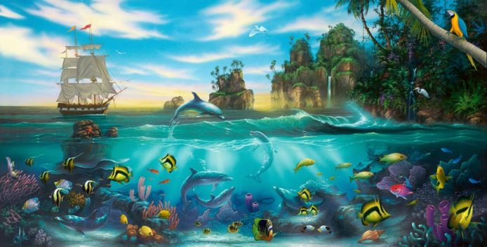 Paradise-Found_Dolphin-painting