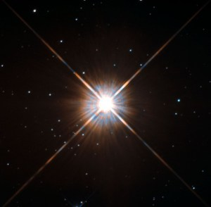 Beautiful photo of Proxima Centauri from the Hubble telescope, 2013.