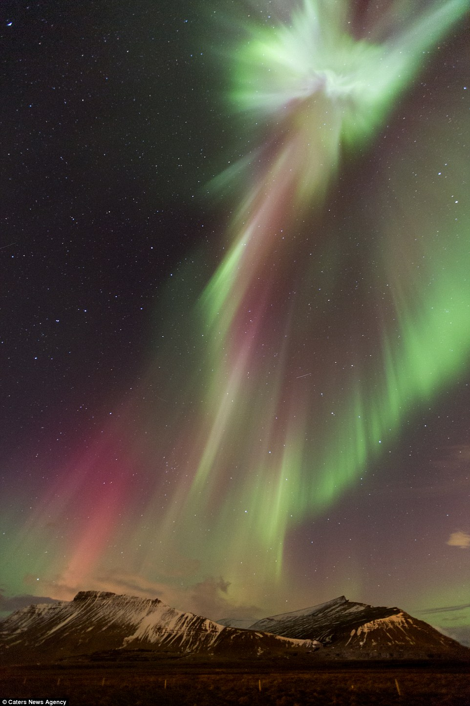 The Return of Christ - Aurora over Iceland