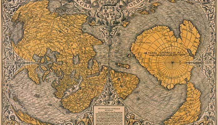 Ancient map of our planet