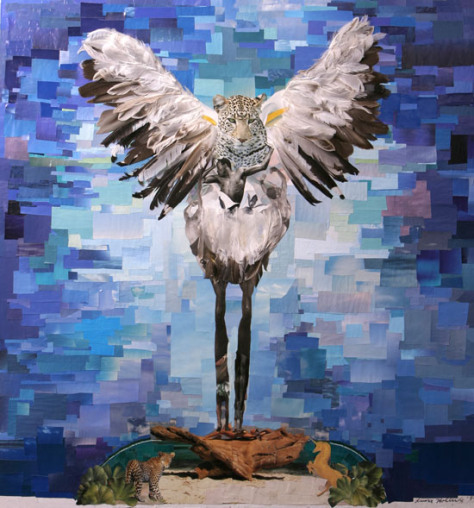 Laura-Hollick-collage-Jaguar-Bird