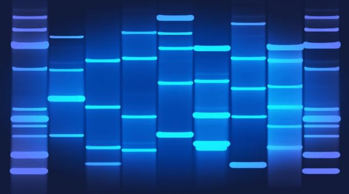 blue DNA Art