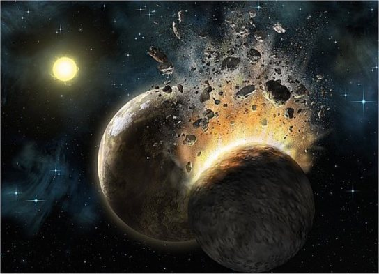 Image result for mothership crashing into earth