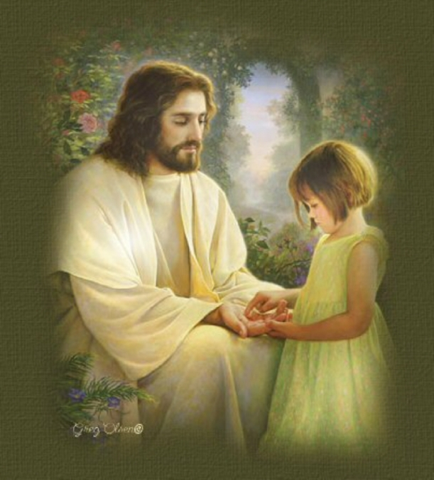 Jesus Comforts Girl